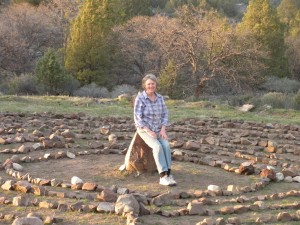 With the help of my friends, the Labyrinth at Mitakuye Oyasin Sanctuary was completed by Spring Equinox 2010